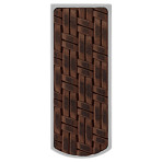 Stainless Steel Money Clip with Woven Accent