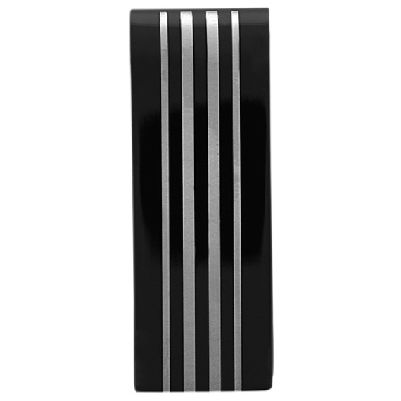 Black Plated Stainless Steel Money Clip