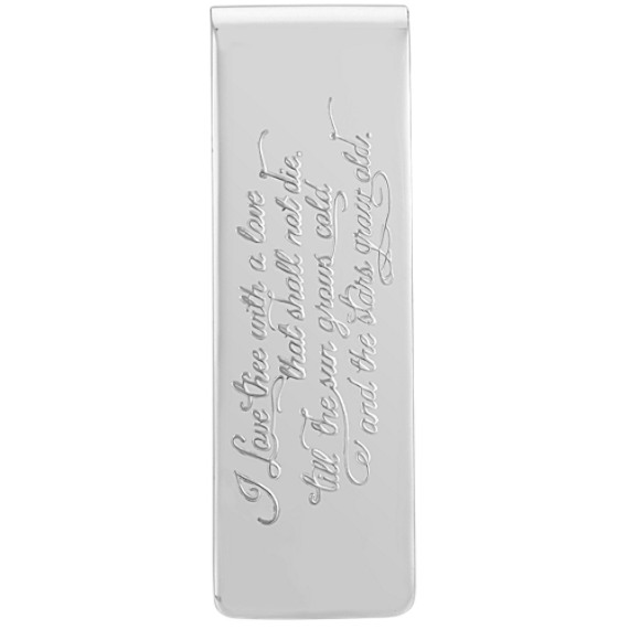 Love Quote Money Clip in Sterling Silver