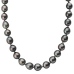 11-12.5mm Multi-Colored Cultured Tahitian Strand with Sterling Silver Clasp (18)