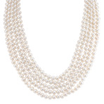 5.5mm Cultured Freshwater Pearl Five-Section Strand (26)