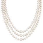 6-9.5mm Cultured Freshwater Pearl Three-Section Strand (18)