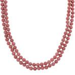 6mm Pink Rhodonite Strand (65)