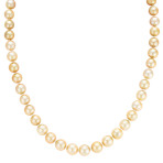 7-9mm Graduated Cultured Golden South Sea Pearl Strand (18)