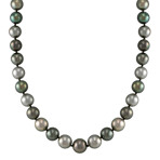 9mm Multi-Colored Cultured Tahitian Pearl Strand (18)