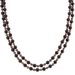 Black Agate and Red Garnet Necklace (65)