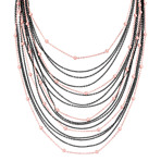 Black Rhodium and Rose Plated Sterling Silver Necklace (24)