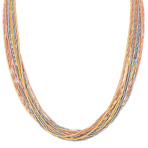Colored Sterling Silver Chain Necklace (18)
