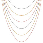 Colored Sterling Silver Multiple Chain Necklace (18)