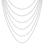 Sterling Silver Multiple Chain Necklace (18)