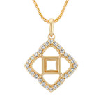Window Pane Diamond Pendant for Square Cut Gemstone (22)