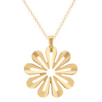 Yellow Sterling Silver Flower Cutout Pendant (18)