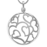 Circle of Hearts Pendant in Sterling Silver (24)