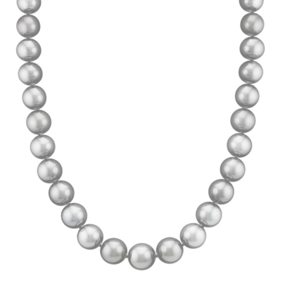 "10-12mm Cultured Tahitian Pearl Necklace (17"")"