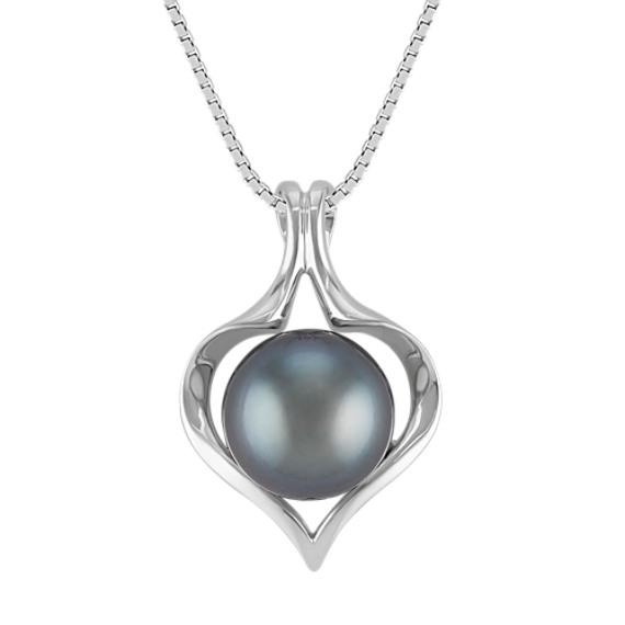 """10mm Cultured Tahitian Pearl Pendant (18"""")"""