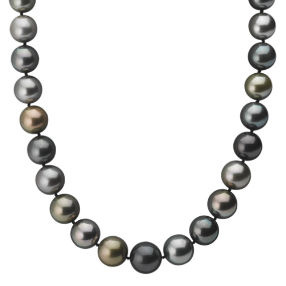 12-14mm Multi-Colored Cultured Tahitian Pearl Strand (18)