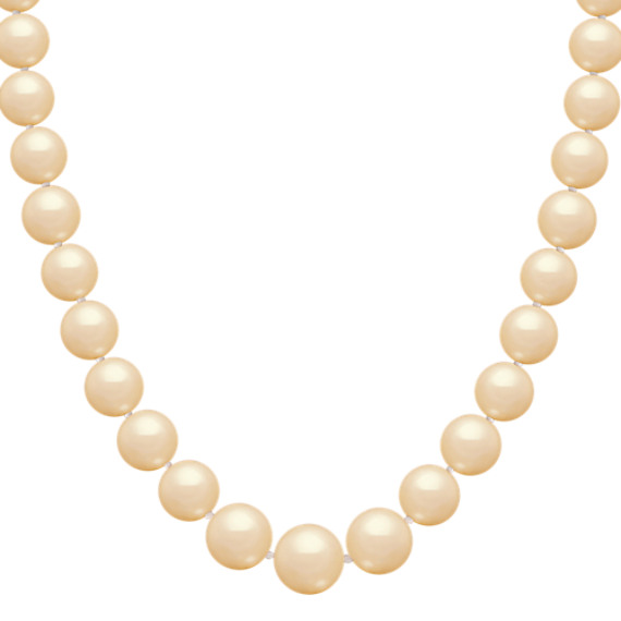 13mm Cultured Golden South Sea Pearl Strand (18)