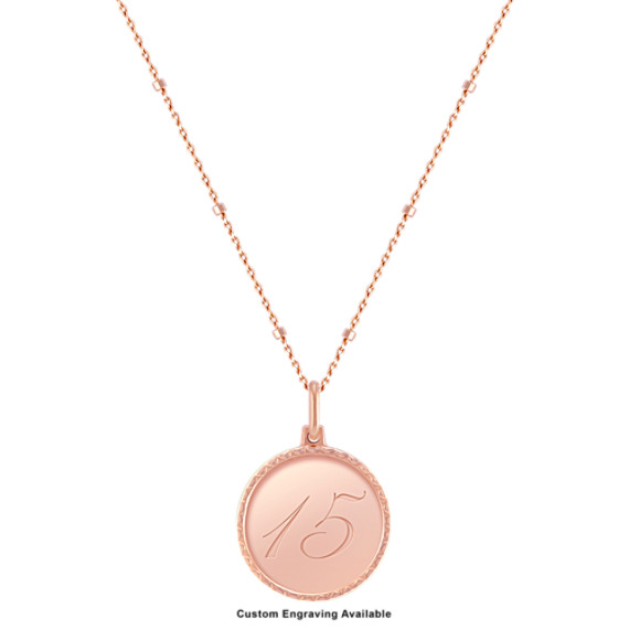 "14k Rose Gold Capri Necklace (18"")"