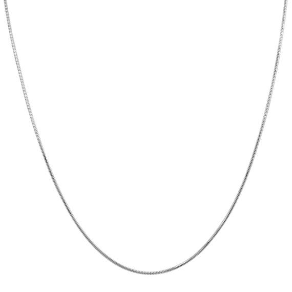 """14k White Gold Adjustable Snake Chain (22"""")"""
