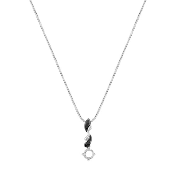 14k White Gold and Black Rhodium Pendant (18)