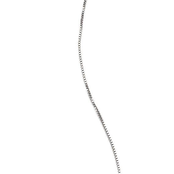 14k White Gold Box  Chain (18)