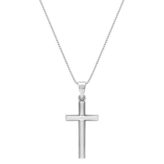 14k White Gold Cross Pendant (18)