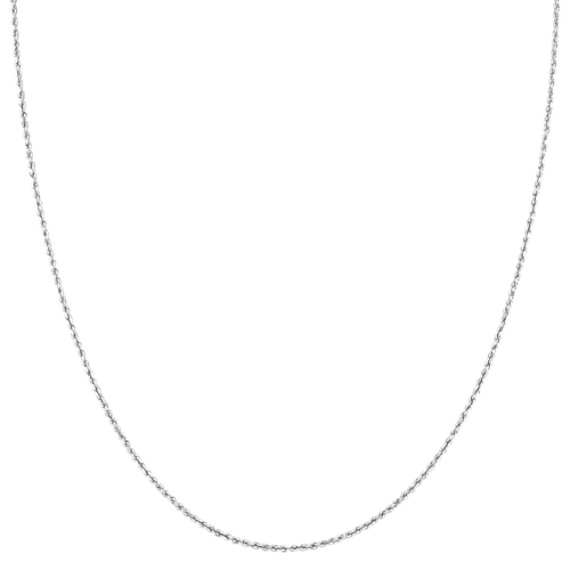 14k White Gold Diamond Cut Rope Chain (20)
