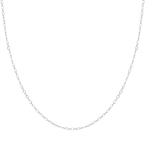 "14k White Gold Figure Eight Chain (18"")"