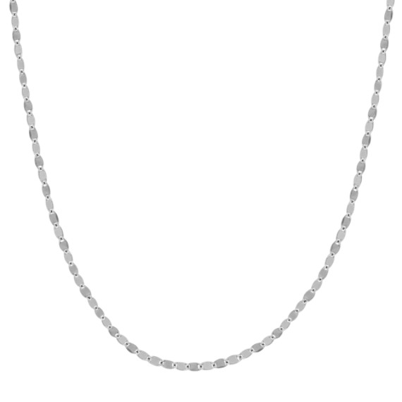 14k White Gold Oval Link Necklace (18)