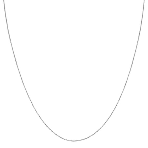 "14k White Gold Popcorn Chain (20"")"