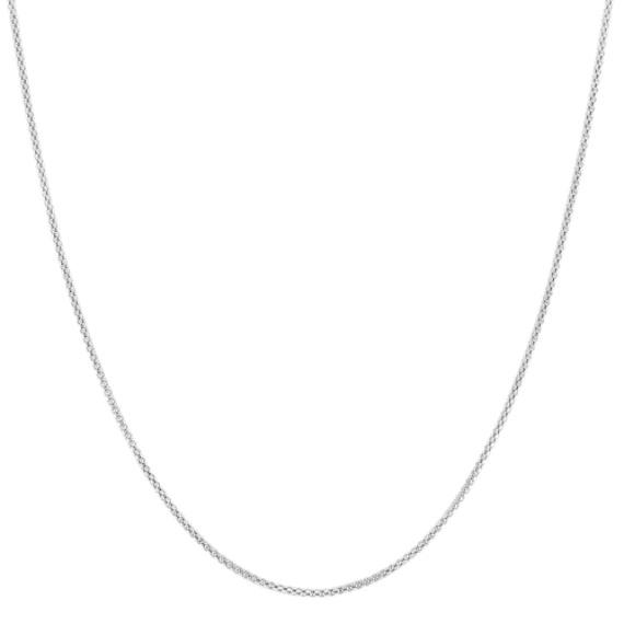 14k White Gold Popcorn Chain (24)