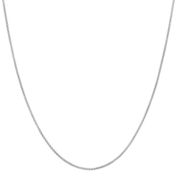 14k White Gold Popcorn Chain (20)
