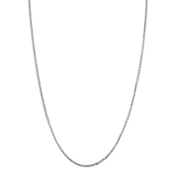"""14k White Gold Wheat  Chain (20"""")"""