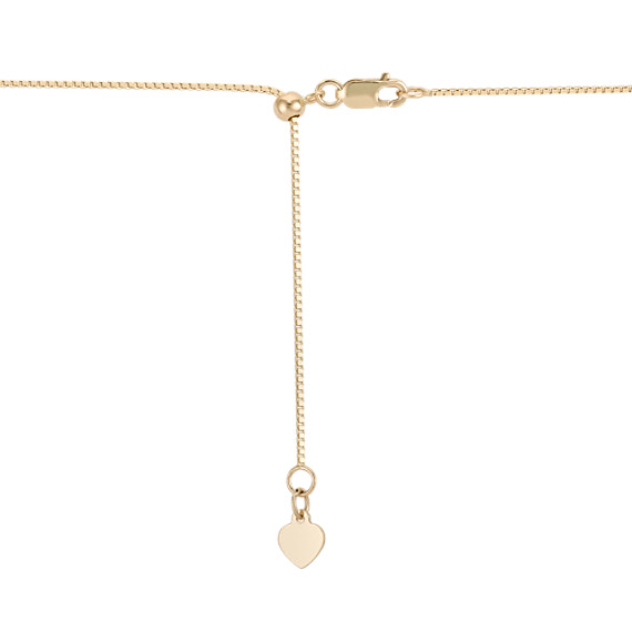 "14k Yellow Gold Adjustable Box Chain (22"")"