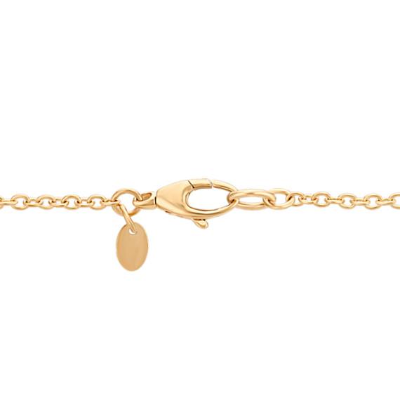 "14k Yellow Gold Circles Fashion Necklace (31.5"")"