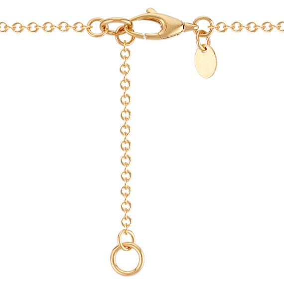 14k Yellow Gold Circles Necklace (18)