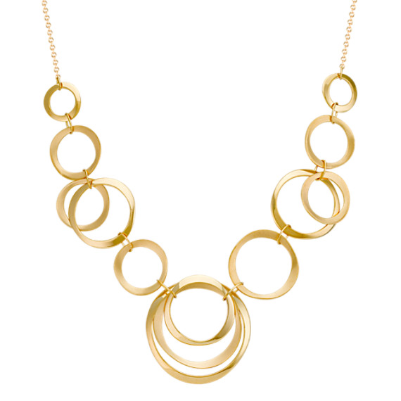 14k Yellow Gold Circles Necklace (18)