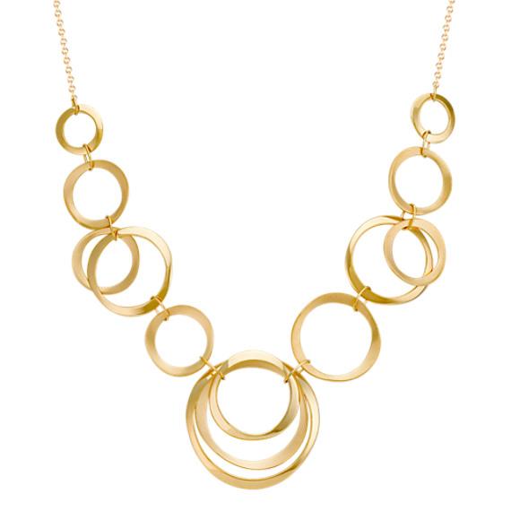 "14k Yellow Gold Circles Necklace (18"")"