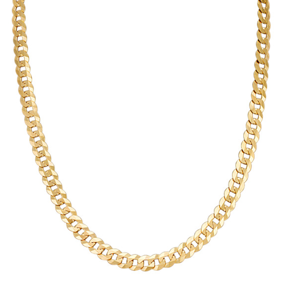 """14k Yellow Gold Curb Necklace (24"""")"""