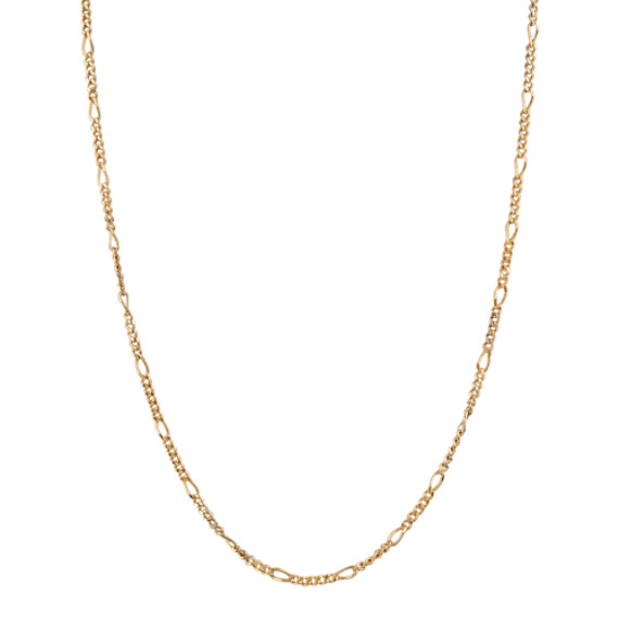 14k Yellow Gold Figaro  Chain (20)