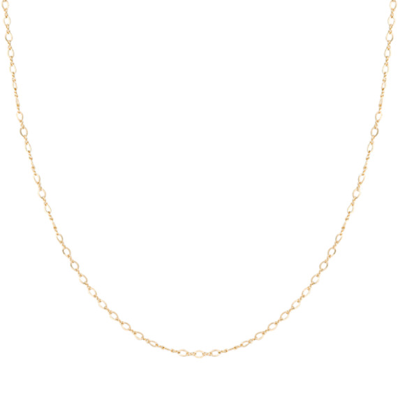 14k Yellow Gold Figure Eight Chain (18)