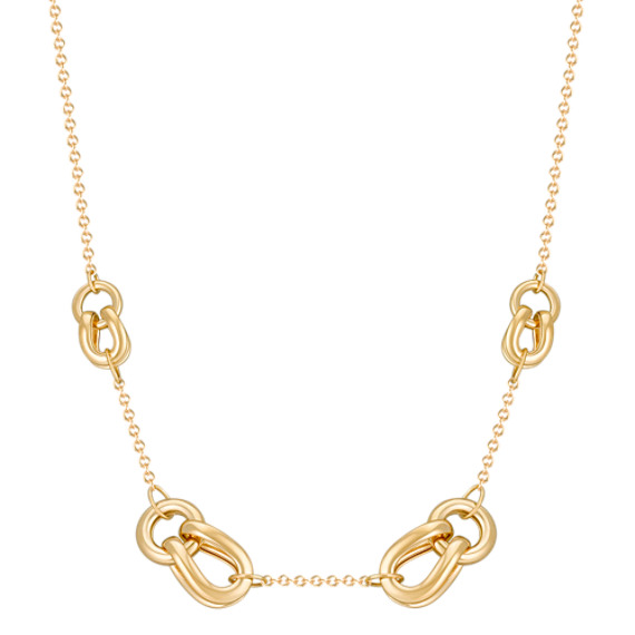 "14k Yellow Gold Knot Necklace (18"")"