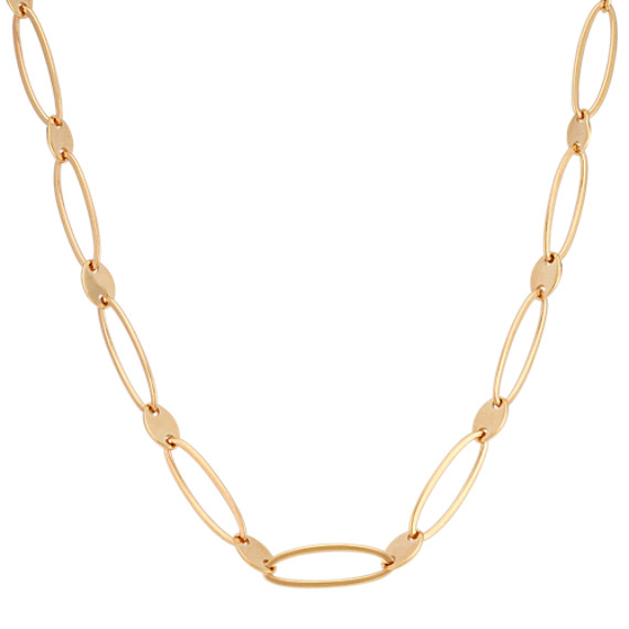 14k Yellow Gold Link Necklace (18)