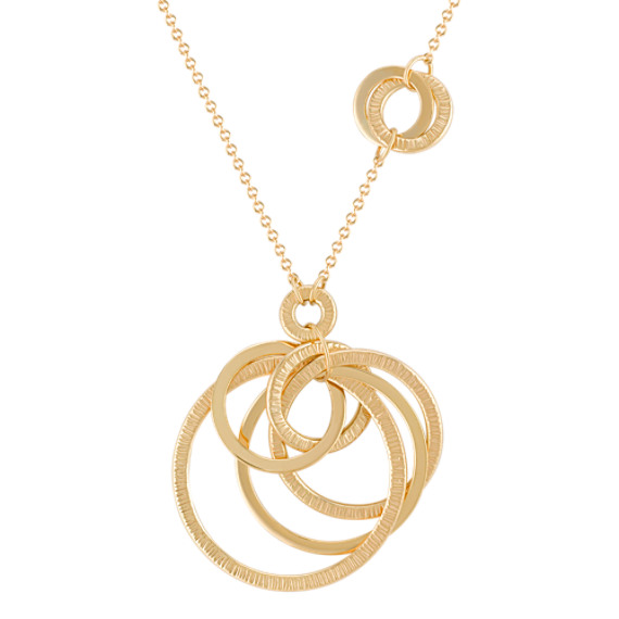 "14k Yellow Gold Multi-Circle Necklace (18"")"