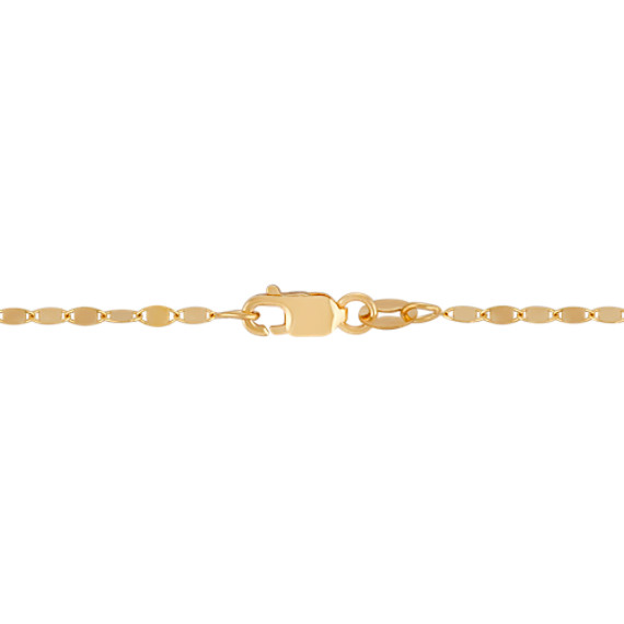 14k Yellow Gold Oval Link Necklace (18 in.)