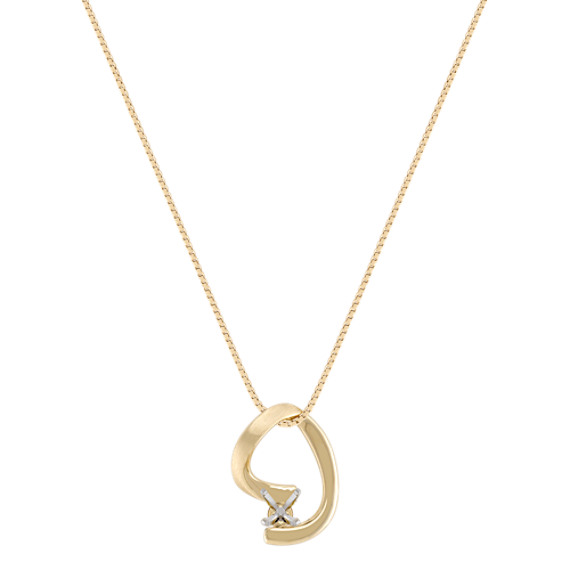 "14k Yellow Gold Pendant (18"")"