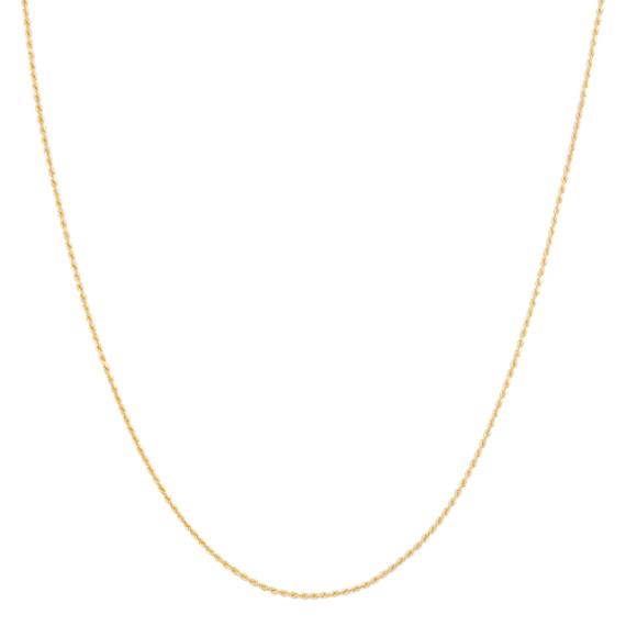 """14k Yellow Gold Rope Chain (20"""")"""