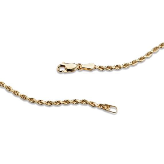 """14k Yellow Gold Rope Chain (24"""")"""