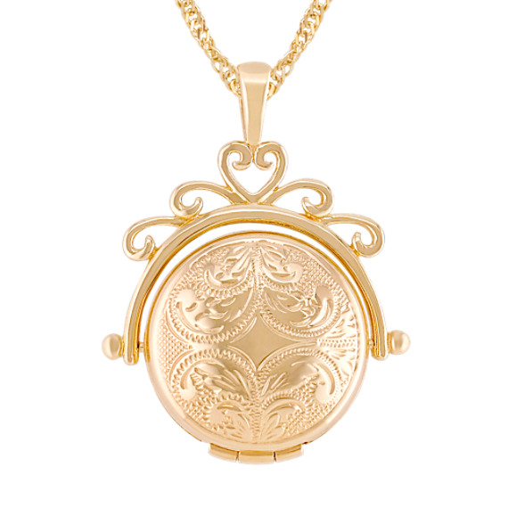 14k Yellow Gold Spinning Locket (18)
