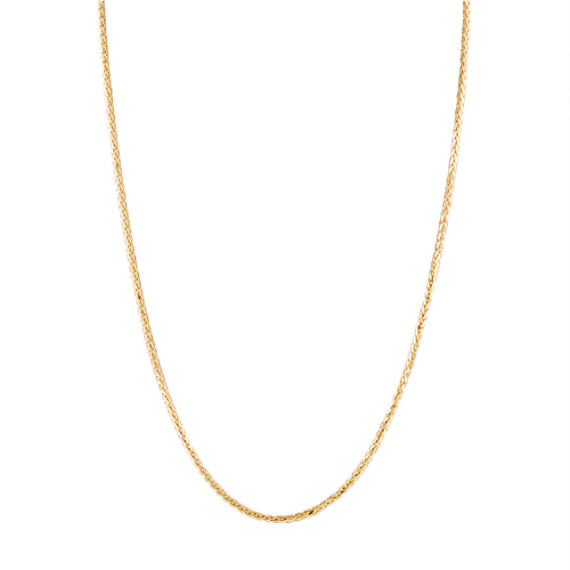 "14k Yellow Gold Wheat  Chain (20"")"